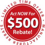 Get your rebate now